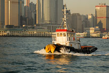 Tugboat in Victoria Harbor. Hong Kong, China. - Photo #14702