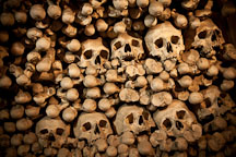 Heap of skulls and bones. Sedlec ossuary, Czech Republic. - Photo #29820