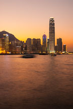 Hong Kong island at sunset. Hong Kong, China. - Photo #15920