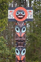 Chief Skedans Mortuary Pole. Stanley Park, Vancouver, Canada - Photo #19590