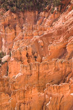 Close-up of gullies and fins. Bryce Canyon NP, Utah. - Photo #19108