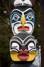 KaKaso'Las totem pole carved by Elien Neel. Stanley Park, Vancouver, Canada. - Photo #19582