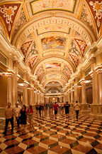 Inside view of the lobby at the Venetian Hotel, Resort, Casino. Las Vegas, Nevada. - Photo #19988