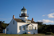 Point Pinos Lighthouse, built as a Cape-Cod style bungalow. Pacific Grove, California - Photo #19551