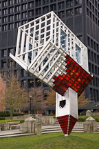 Upside down church sculpture by Dennis Oppenheim. Vancouver, Canada. - Photo #19563