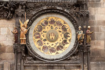 Calendar on the astronomical clock. Prague, Czech Republic. - Photo #29621