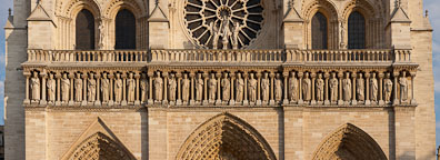 The gallery of kings on Notre Dame Cathedral. Paris, France. - Photo #31321