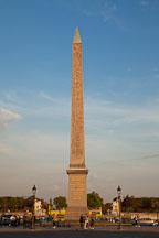 Obelisk at the Place de la Concorde. Paris, France. - Photo #31121