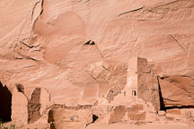 Ruined structure at Antelope House. Canyon de Chelly, Arizona. - Photo #18121