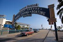 Santa Monica pier entrance. Santa Monica, California, USA. - Photo #7021