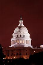 U.S. Capitol, at night. Washington, D.C., USA. - Photo #11021