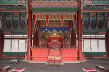 Geunjeong Hall is the lavishly decorated throne room at Gyeongbok Palace in Seoul, South Korea. - Photo #20957