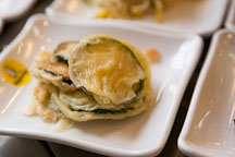 Hobakjeon (pan-fried summer squash) is one of many favorite Korean side dishes (banchan). - Photo #20868