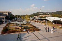 The outdoor exhibition area of the War Memorial of Korea features many full-sized historic and modern planes. - Photo #20824