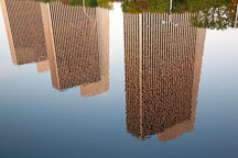 Reflection of the Agency Buildings at Empire State Plaza. New York, Albany. - Photo #20045