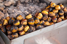 Roasted Chestnuts are for sale at this stand in Wolmido, Incheon, South Korea. - Photo #20141