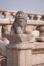There are many sculpted animals adorning the stairs and railings surrounding Geunjeong Hall, which served as the throne room for Gyeongbok Palace in Seoul, South Korea. - Photo #20949