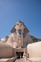 Sphinx at the entrance to the Luxor. Las Vegas, Nevada. - Photo #20006