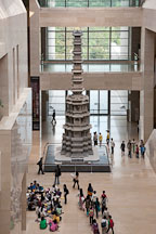 This ten-story pagoda in the great hall of the national museum of Korea. - Photo #20330