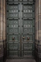 Bronze door at Cologne Cathedral. Cologne, Germany. - Photo #30722