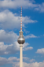 Fernsehturm, a television tower, in the center of Berlin, Germany. - Photo #30622