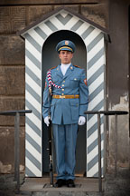 Soldier standing at attention as an Honory Guard. Prague Castle, Czech Republic. - Photo #29722