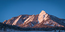 Winter sunrise on the Flatirons. Boulder, Colorado. - Photo #33122