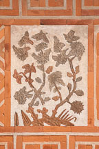 Chrysanthemum design on the Jagyeongjeon wall at Gyeongbok Palace in Seoul, South Korea. - Photo #21023