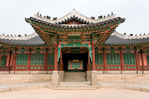 One of the entrances to Huijeondang. Changdeokgung Palace. Seoul, South Korea. - Photo #21493