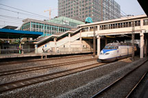 KTX train passes through Gasan Digital Complex Station. Seoul, South Korea. - Photo #21378
