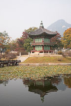 Hyangwonjeong pond and pavilion at Gyeongbok Palace in Seoul, South Korea. - Photo #21050