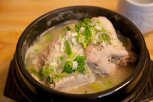 Samgyetang is a delicious chicken soup served in Korea. - Photo #21373
