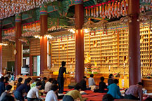 Thousands of Buddhas in Bupwangroo (Bodhisattva of Compassion). Bongeunsa Temple, Seoul, Korea. - Photo #21867