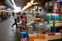 Vendors at the Noryangjin Fish Market in Seoul wait for customers to browse their stalls. - Photo #21216