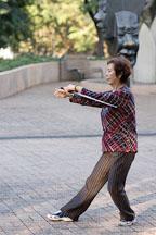 Women with sword practicing Tai Chi. Kowloon Park, Hong Kong, China. - Photo #14723