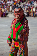 Atsara at the tsechu. Thimphu, Bhutan. - Photo #22418