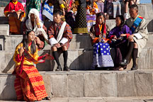 Audience at Thimphu tsechu festival. Thi
