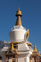 Golden spire of the National Memorial Chorten. Thimphu, Bhutan. - Photo #22886