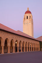 Hoover Tower at twilight. Stanford University, California. - Photo #22242