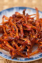 Spicy anchovies or myeolchi (myulchi) bokkeum doused with a sweet and spicy sauce - Photo #22210
