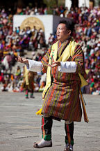 Male folk dancer. Thimphu tsechu, Bhutan. - Photo #22452