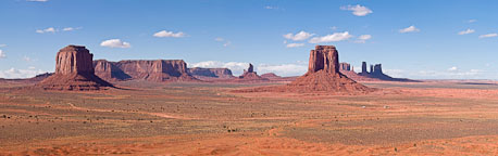 Panorama of Monument Valley from Artist's point. Monument Valley, Arizona. - Photo #22095