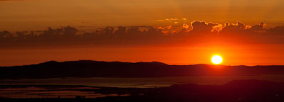 Sunset panorama over the San Francisco Bay. - Photo #22230