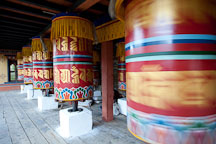 Prayer wheels at the National Memorial Chorten. Thimphu, Bhutan. - Photo #22843