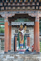 Sculpture of the goddess Ihamu at the National Memorial Chorten. Thimphu, Bhutan. - Photo #22827