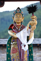 Statue of the goddess Ihamu at the National Memorial Chorten. Thimphu, Bhutan. - Photo #22829