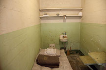 Tiny prison cell in Alcatraz. - Photo #22132