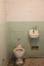 Toilet and sink in cell. Alcatraz, California. - Photo #22130