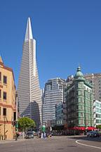 Transamerica Pyramid and Columbus Tower. San Francisco, California. - Photo #22155
