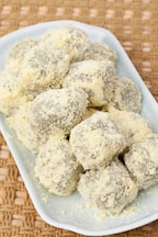 Korean rice cakes or tteok made from sweet glutinous rice. - Photo #22204